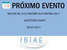 Noche de la Economía Alicantina. Cámara de Comercio de Alicante