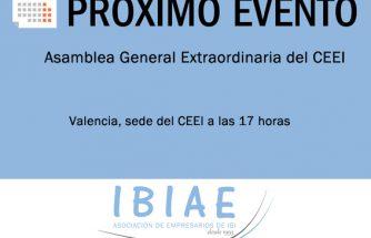 IBIAE asistirá a la Asamblea General Extraordinaria del CEEI en Valencia
