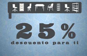 Ahórrate un 25 % en cualquier pieza de mobiliario para tu oficina