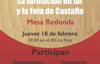 IBIAE participa en la mesa redonda sobre la formación en Ibi y La Foia de Castalla