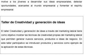 Taller de Creatividad y Generación de Ideas