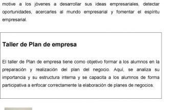 Charla sobre el Plan de Empresa a Alumnos del IES la Foia