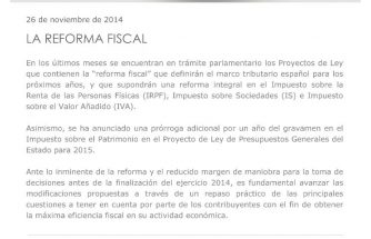 Jornada Informativa: La reforma fiscal