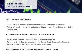 """Jornada Gratuita """"Recuperación de la inversión de la salida a bolsa de Bankia"""""""