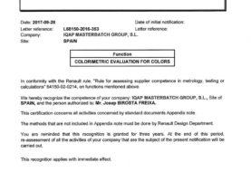 IQAP recibe la certificación Renault