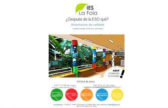 Abierto el periodo para inscribirse en los Ciclos Formativos del IES La Foia
