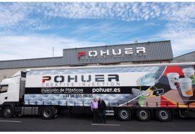 POHUER personaliza con su imagen el camión de una empresa colaboradora