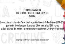 IBIAE estará en la entrega de Premios del IES Cotes Baixes de Alcoy