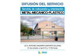 IBIAE presenta el servicio de colocación y orientación en el IES Antonio Navarro Santafé de Villena