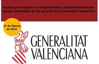 Ayudas para mejorar la competitividad y la sostenibilidad de las pymes industriales de la Comunitat