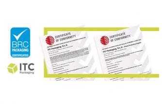 ITC PACKAGING alcanza la calificación máxima de BRC para sus plantas de Ibi y Sopelana