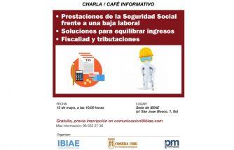 Charla: prestaciones de la Seguridad Social frente a una baja laboral, soluciones para equilibrar ingresos, fiscalidad y tributaciones