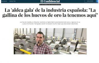 La industria de la comarca, noticia en El Confidencial