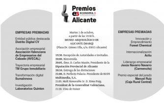 Premios Economía 3 Alicante