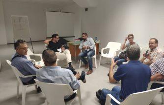 Reunión entre IBIAE y el concejal de Industria de Onil