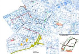 Plano de obras en el polígono de Ibi