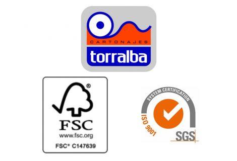 CARTONAJES TORRALBA obtiene los certificados ISO 9001:2015 y FSC
