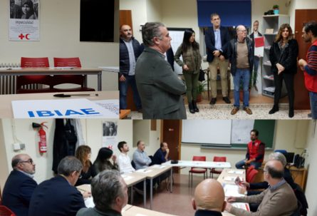 Junta directiva de IBIAE en la Asamblea Local de Cruz Roja
