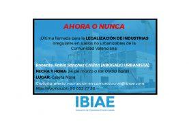 Legalización de industrias irregulares en suelos no urbanizables (SUSPENDIDA)