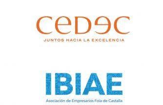 IBIAE firma un convenio con CEDEC para la puesta en marcha de proyectos de organización o estratégicos de las empresas asociadas