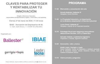 Claves  para proteger y rentabilizar tu innovación (SUSPENDIDA)