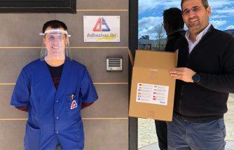 ADHESIVAS IBI elabora unas pegatinas para los embalajes de las empresas de IBIAE