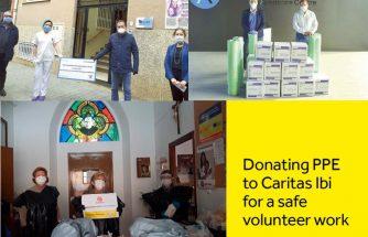 SMURFIT KAPPA dona 20.000 euros al Asilo San Joaquín y material de protección a Cáritas