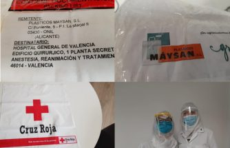 PLÁSTICOS MAYSAN dona material de protección al Hospital General de València