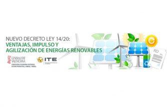 Webinar 'Nuevo decreto ley 14/20: ventajas, impulso y agilización de energías renovables'