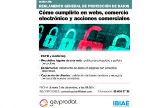 Reglamento General de Protección de Datos (RGPD). Cómo cumplirlo en webs, comercio electrónico y acciones comerciales