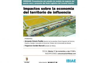 Webinar: presentación del estudio de modelo de negocio del puerto seco y proyecto del 'Nodo Logístico del Levante Interior'. Impactos sobre la economía del territorio de influencia