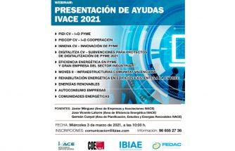 Webinar: presentación de ayudas IVACE 2021