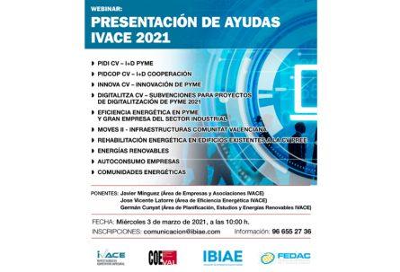 La Plataforma por la Reindustrialización Territorial convoca un webinar para conocer las ayudas del IVACE en materia de innovación y energías renovables