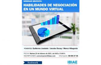 Webinar gratuito: 'Habilidades de negociación en un mundo virtual'