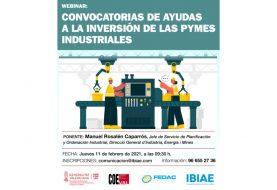 Webinar: convocatoria de ayudas a la inversión de las pymes industriales