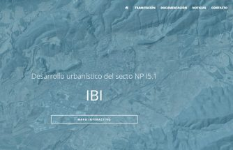 Mapa interactivo con información gráfica del sector NPI5.1