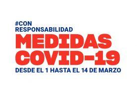 Nuevas medidas COVID-19 desde el 01/03 al 14/03 en la Comunitat Valenciana