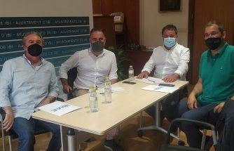 Reunión de IBIAE con el alcalde y el concejal de Urbanismo de Ibi