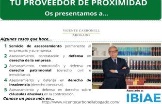 Proveedor de proximidad: VICENTE CARBONELL ABOGADO