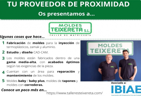 Proveedor de Proximidad: MOLDES TEIXERETA