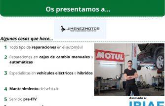 Proveedor de proximidad: TALLER JIMÉNEZ MOTOR