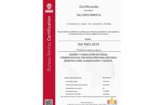 TALLERES DIBER obtiene la ISO 9001