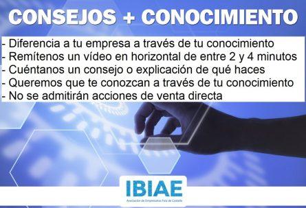 'Consejos + conocimiento', nueva campaña de IBIAE para compartir la experiencia empresarial
