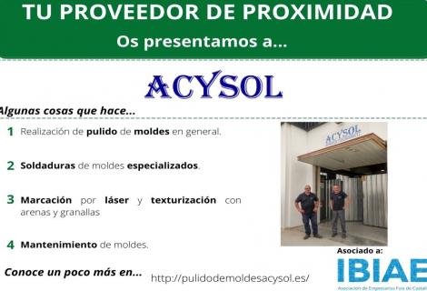 Proveedor de Proximidad: ACYSOL